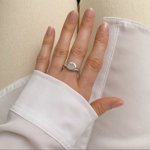 Signet Midi Ring | 925 Silver